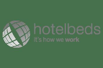 Logo de hotelbeds. Servicios de marketing online para hoteles