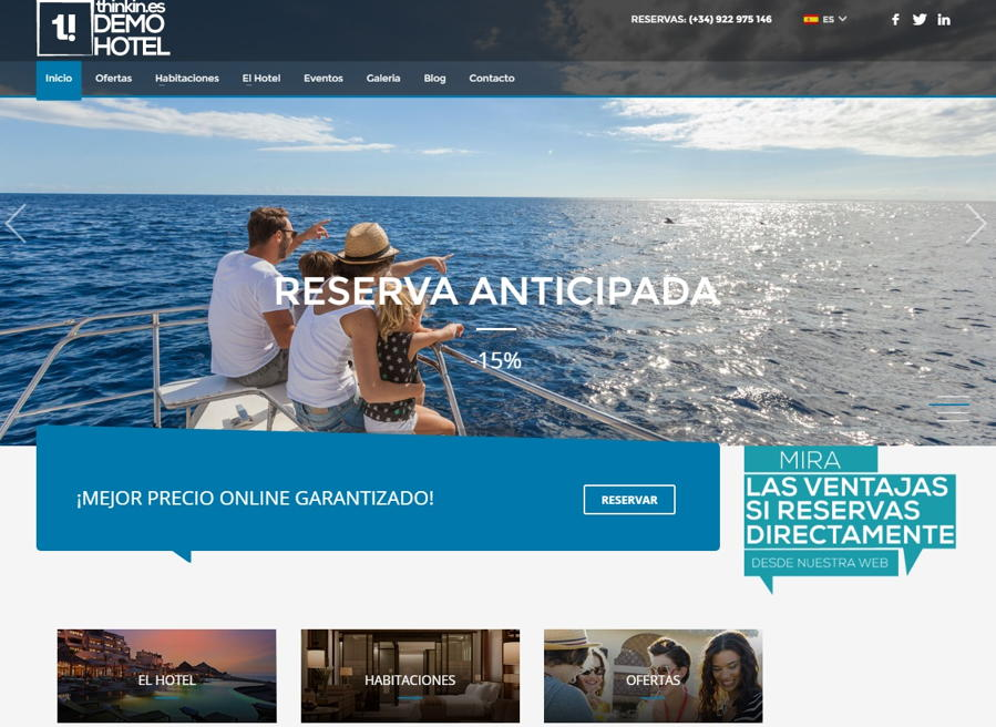 diseño web para hoteles